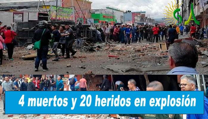 Al menos 4 muertos y 20 heridos deja explosión en la localidad de Engativá el noroccidente de Bogotá