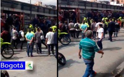 ¡Atención! ciudadano muere arrollado por un bus de Transmilenio