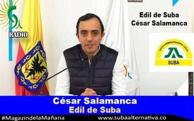 El edil Cesar Salamanca se compromete cada vez más con los vecinos de las UPZs 18 y 17