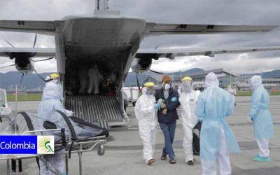 Su Fuerza Aérea Colombiana trasladó pacientes con Covid-19 desde Leticia