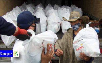 Habitantes de Sumapaz recibieron en sus veredas ayudas alimentarias