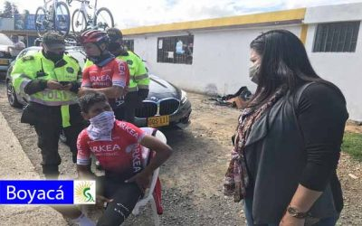 El ciclista boyacense Nairo Quintana mientras entrenaba sufrió un accidente en carreteras de Boyacá