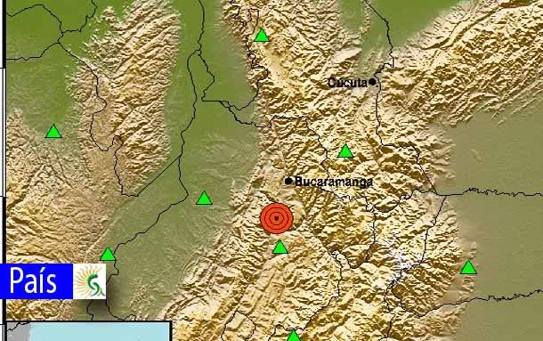 Fuerte sismo de 5,5 sacudió a Colombia