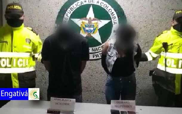 Capturada pareja sindicada de hurtar a pasajeros de un SITP en Engativá