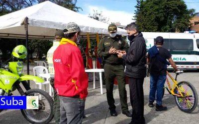 Jornada de demarcaciòn y empoderamiento de bicicletas en el Parque la Gaitana en Suba