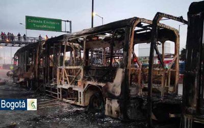 Más de 200 buses de TransMilenio han sido vandalizados