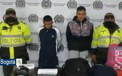 Capturan delincuentes en la localidad de Usaquén que dispararon y robaron en bus alimentador