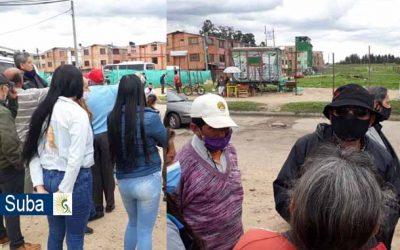 Comunidad de Caminos de Esperanza, teme invasión de áreas de reserva vial de la Avenida Suba y obras no autorizadas