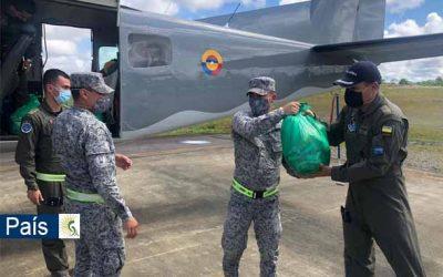 Su Fuerza Aérea transporta personal de construcción y más de 28 toneladas desde Puerto Rico e Islas Caimán hacia San Andrés