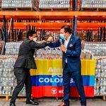 Más de 30 toneladas de agua y alcohol para Chocó, San Andrés, Providencia y Santa Catalina
