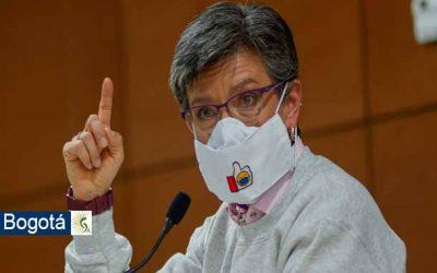 Alcaldesa de Bogotá Claudia López decreta alerta roja y toque de queda y nuevas medidas