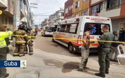 Voraz incendio se presentó en el interior de una casa de cuatro pisos en Suba Bilbao
