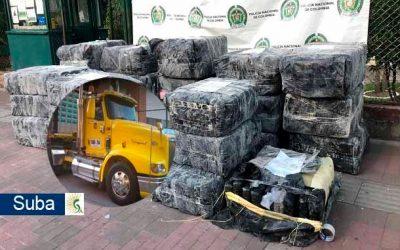 """En Suba """"cayó"""" el mayor cargamento de marihuana incautado hasta ahora en la ciudad"""